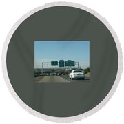 Interstate 70 West At Exit 234, Route 180 West Exit, 1999 Round Beach Towel