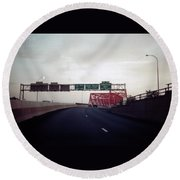 Interstate 74 East Approach Exit 94, Industrial Spur Exit, 1987 Round Beach Towel