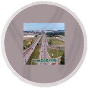 Interstate 74 West At Exit 95b, Route 116 East Exit, 1975  Round Beach Towel