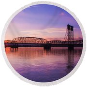 Interstate Bridge Round Beach Towel