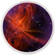 Interstellar Twister Round Beach Towel