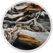 Intertwined Round Beach Towel by Chris Steinken