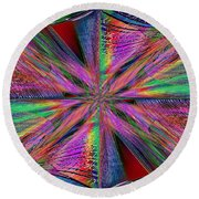 Interwoven 2 Round Beach Towel
