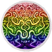 Interwoven Twisted Vines Of Life Round Beach Towel