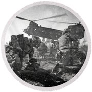 Into Battle - Charcoal Round Beach Towel