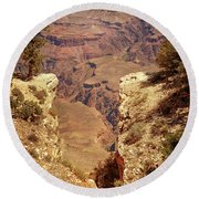 Into The Canyon Round Beach Towel by Susan Rissi Tregoning