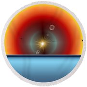 Into The Eye Of The Sunset Round Beach Towel