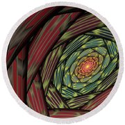 Into The Fantasy Tunnel Round Beach Towel