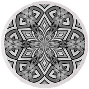 Into The Floral Round Beach Towel