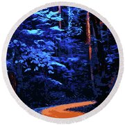 Into The Forest Of Night Round Beach Towel