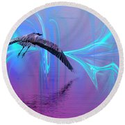 Into The Lagoon Round Beach Towel