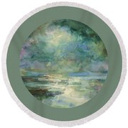 Into The Light Round Beach Towel