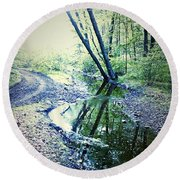 Into The Nothing Round Beach Towel