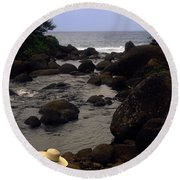 Into The Ocean Round Beach Towel
