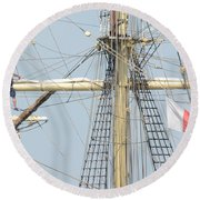 Into The Rigging Round Beach Towel