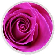 Into The Rose Round Beach Towel