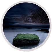 Into The Shadows Round Beach Towel