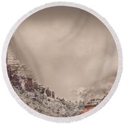 Into The Void Round Beach Towel
