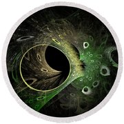 Into The Vortex Round Beach Towel