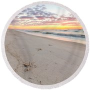 Into The Waves Round Beach Towel