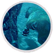 Into The Wild Blue Round Beach Towel