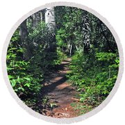 Into The Woods Round Beach Towel