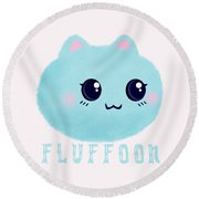 Introducing Fluffoon The Cutest Fluff In The World Round Beach Towel
