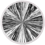 Introspective Round Beach Towel