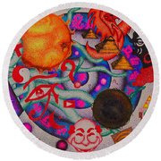 Introverse Round Beach Towel