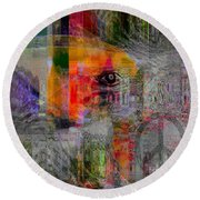 Intuitional Abstract Round Beach Towel