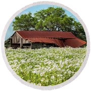 Poppy Invasion In Hillcountry-texas Round Beach Towel