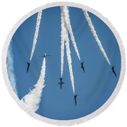 Inverted Bomb Burst  Round Beach Towel