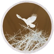 Inverted Crow Round Beach Towel