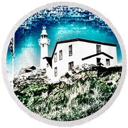 Inverted Lighthouse  Round Beach Towel