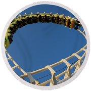 Inverted Roller Coaster Round Beach Towel