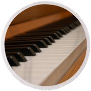 Invisible Pianist Round Beach Towel