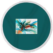 Invitation Round Beach Towel