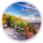 Inviting Path Round Beach Towel