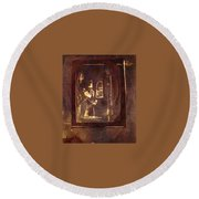 Inward Reflections Round Beach Towel