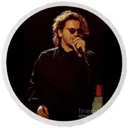 Inxs-94-michael-1235 Round Beach Towel