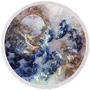Ion Storm Round Beach Towel