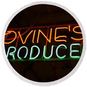 Iovines Produce Round Beach Towel
