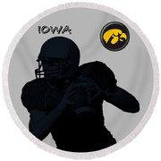 Iowa Football  Round Beach Towel