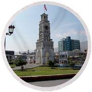 Iquique Chile Plaza Round Beach Towel