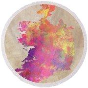 Ireland Map  Round Beach Towel
