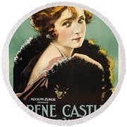 Irene Castle In The Firing Line 1919 Round Beach Towel