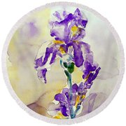 Iris 2 Round Beach Towel
