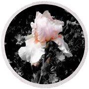 Iris Emergance Round Beach Towel