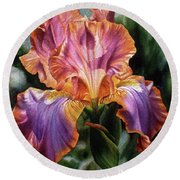 Iris II Round Beach Towel
