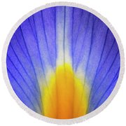 Iris Leaf Abstract Round Beach Towel